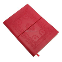 Elastic Red Leather Book Cover Pu
