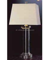 UL clear crystal table lamp crystal base