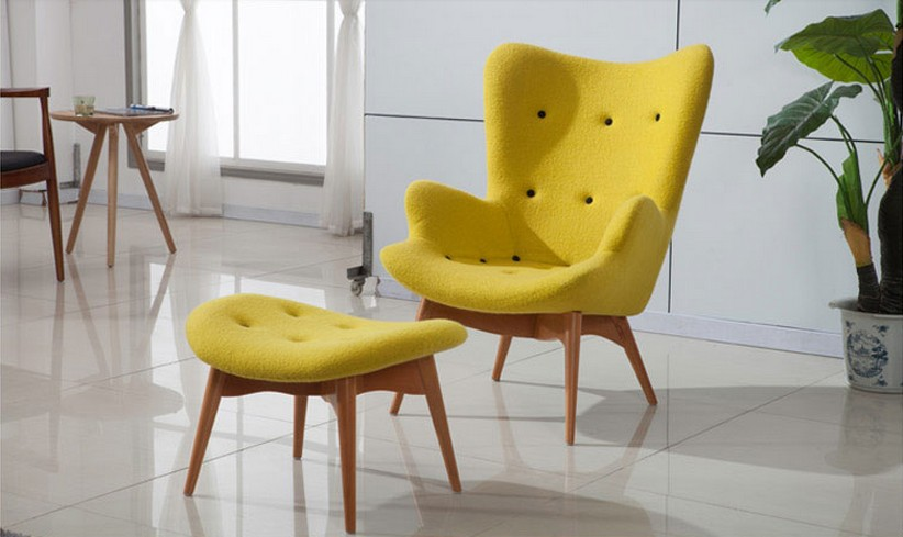 Modern Fashion Kids Leisure Chair Living Room Wood Fabric