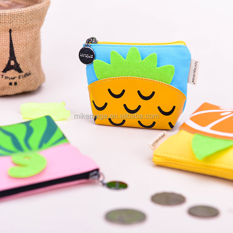 Languo fruit New design coin purse canvas for wholesa coin bag, Item:LG-8492