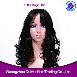 Very soft & clean peruvian wavy cheap front lace wig human hair for wholesale