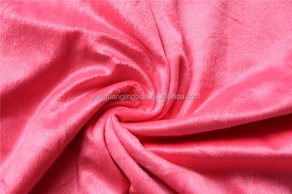 100% Polyester Warp Knit FDY Yarn EF Velboa Fabric ,2mm