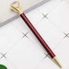 New style diamond top pen for Lady wedding office school roller ball pen Rose gold
