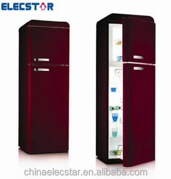 300L double door retro refrigerator,retro fridge,home appliance,household refrigeration.solid door upright fridge
