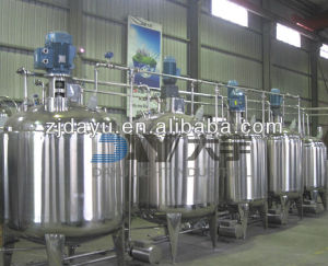 2000L stainless steel steam heating jacketed mixing tank with agitator,blending tank