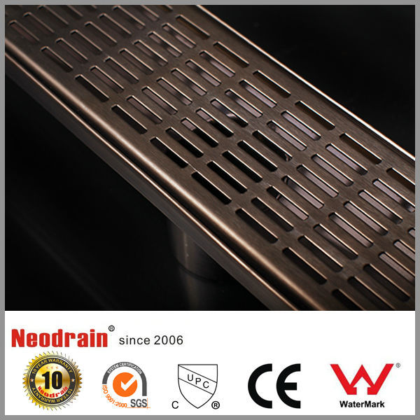 Brass plating chromium sealed type outdoor shower drain grate