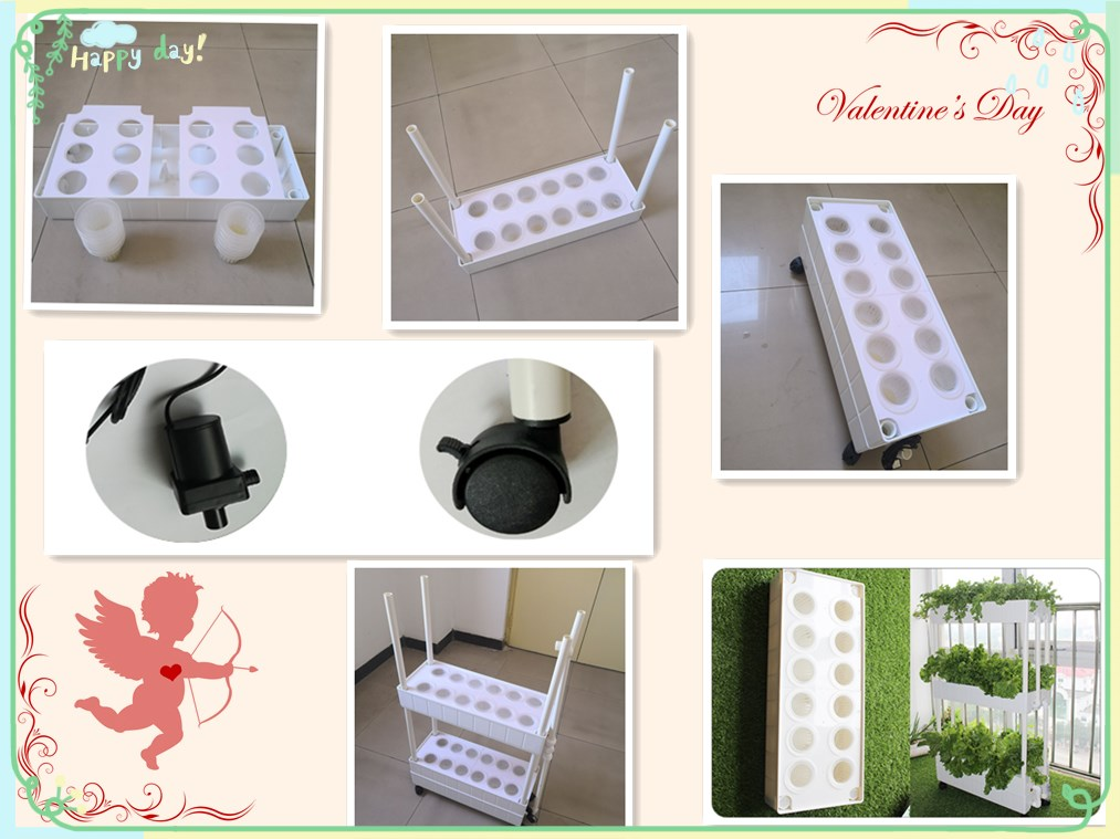 Commercial Eco-friendly NFT hydroponic planting box equipment For Garden Greenhouse