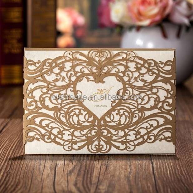 Wholesale Wedding Invitations Elegant Laser Cut Wedding Invitations Paper Card cw5018