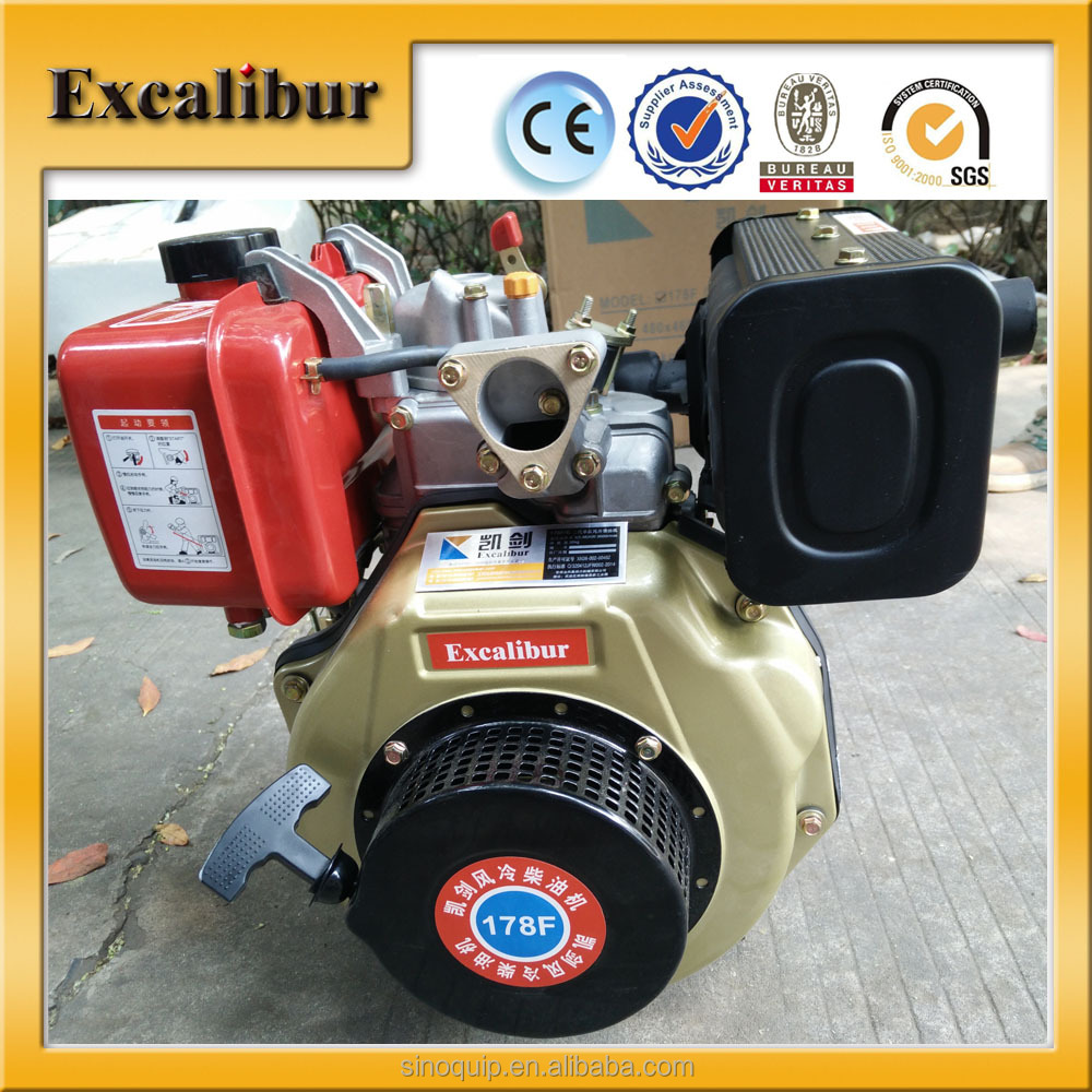 Portable 4-Stroke Diesel Engine 178F for Generator