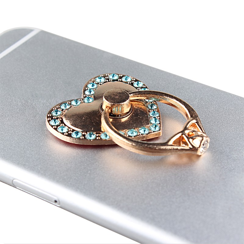 sticky mobile phone luxury diamond stand ring holder for iphone 6 6s 7