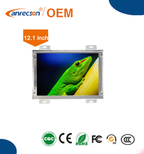 12 inch open frame lcd monitor with easy installation and integration in kiosk/vernding machine