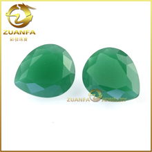 factory wholesale bulk pear shape jade large loose glass stones