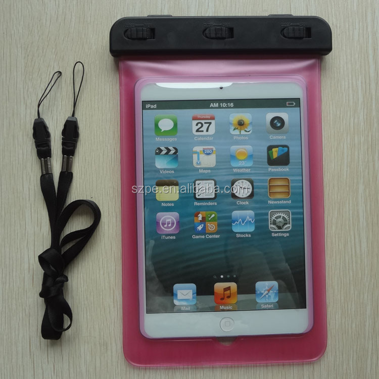Black Tablet Waterproof Case Sleeve Dry Pouch Bag For Apple iPad Mini