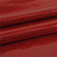 Advanced Taiwan Machines fluorescence color glitter film 1.38m pvc glitter sheet leather for bag