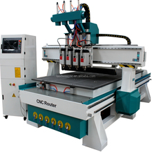 High Level Linear ATC Wood working CNC Router Machinery for Furniture Making