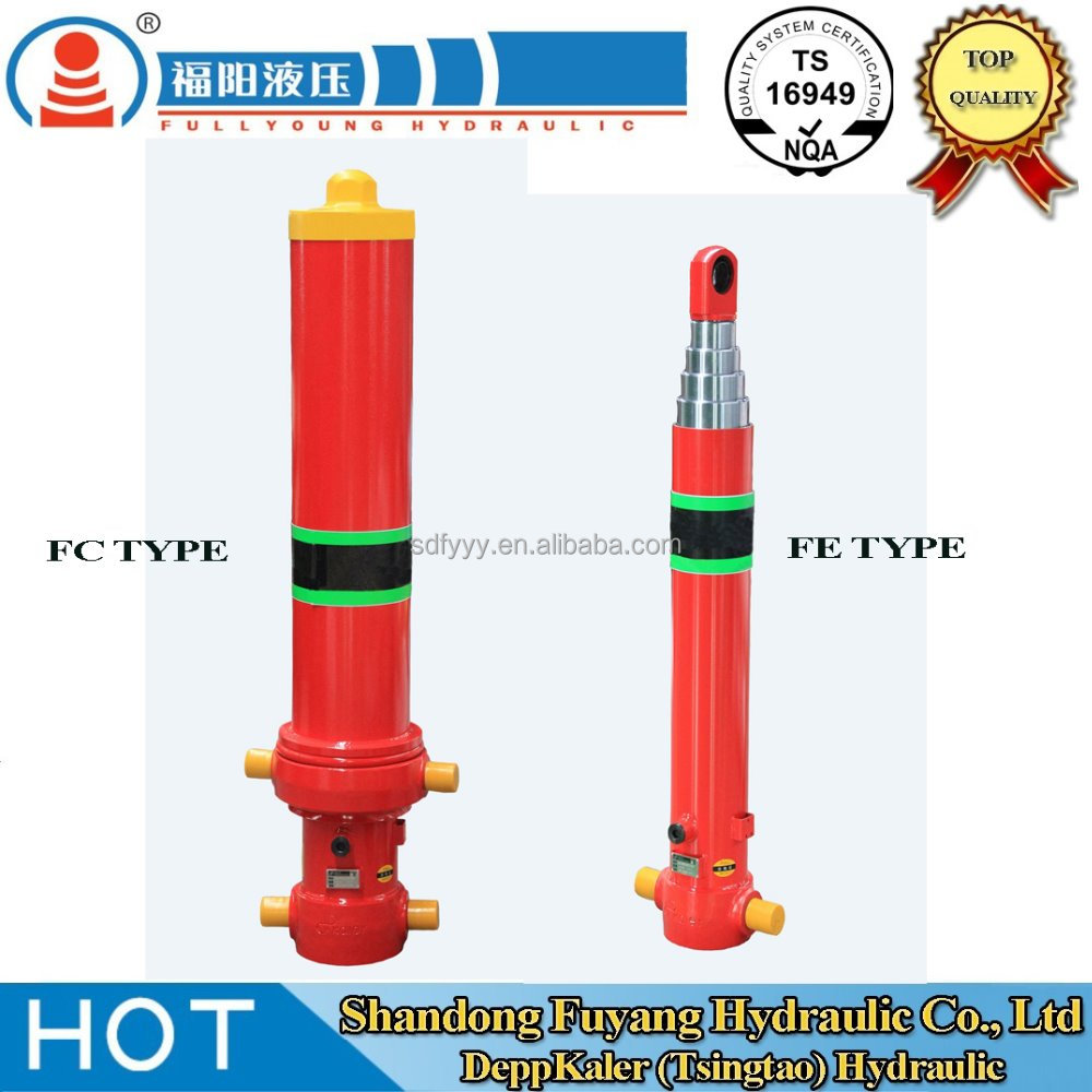 hydraulic cylinder used for tipper truck/multistage hydraulic cylinder/front end hydraulic hoist