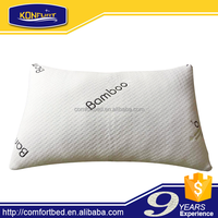 Bamboo cover shredded memory foam pillow