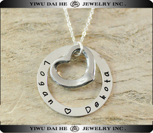 Lovers special alloy link chain necklace with heart and key pendants