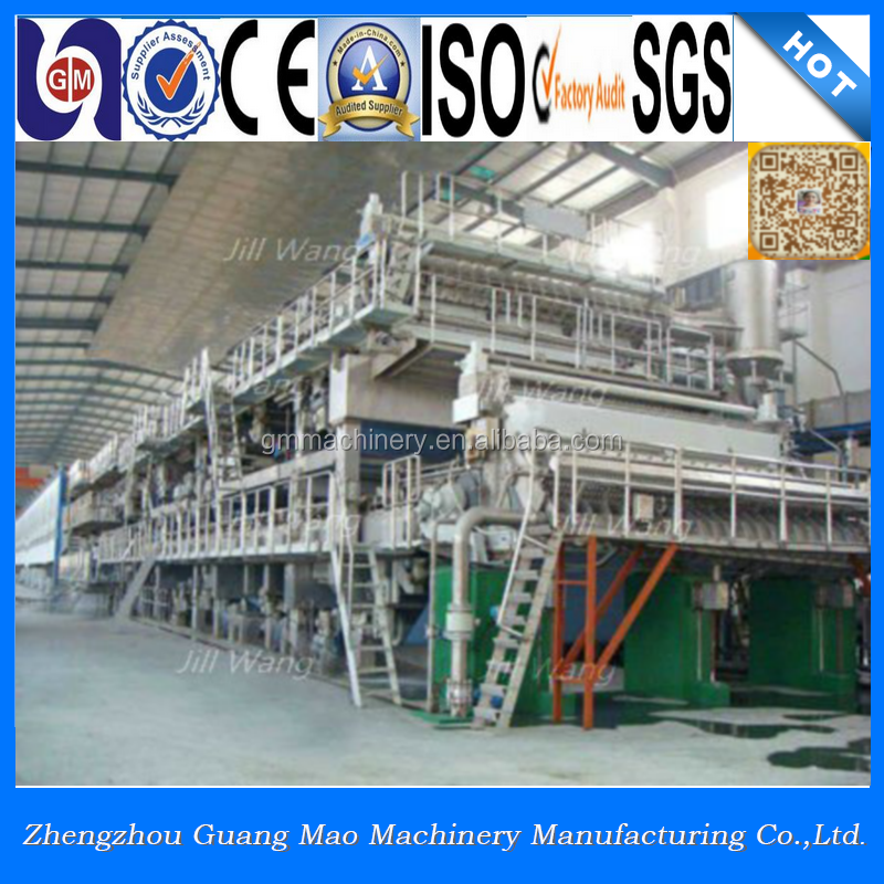 3200mm 50-60tpd type high strength fourdrinier corrugated recycling process of paper machine