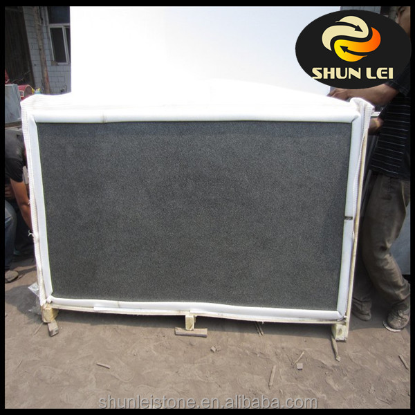 High quality Absolute black granite flamed