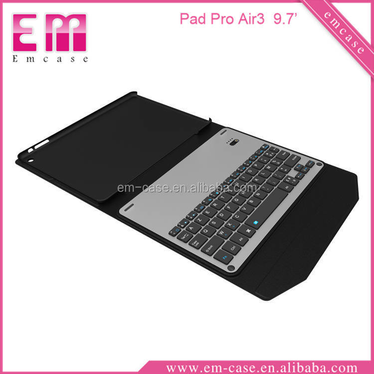 "New For iPad pro 9.7"" Keyboard Case,Ultra Slim PU Leather Case with Aluminum Wireless Bluetooth Keyboard for iPad pro 9.7"