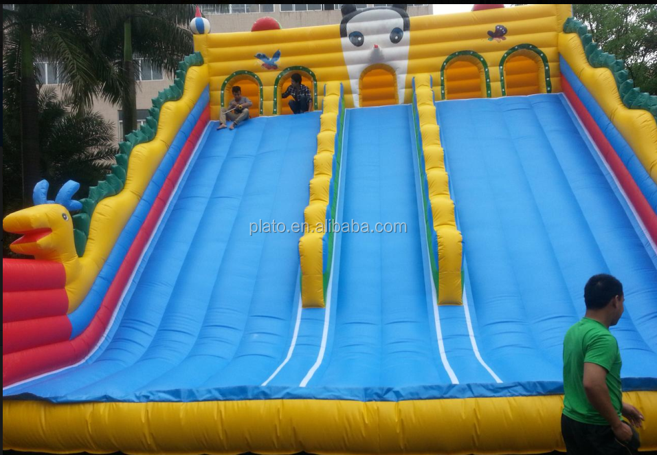 Top quality PVC tarpaulin giant inflatable water jumping slide for fun /inflatable water sport game