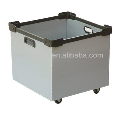 anti-static conductive anti-corrosion strong durable hollow corrugated correx pp plastic box with handles