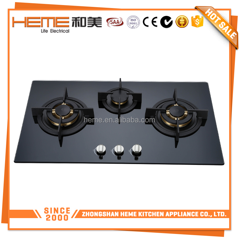 Fine Easy to use 3 burners Cast iron pan support gas utensils used cooking (PG8132G-ACB)