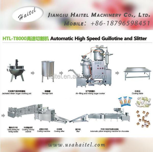 HTL-T8000 Automatic High Speed Peanut Nougat Guilloting And Slitter Line