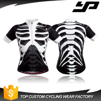 Wholesale heat transfer printing cycling apparel blank cycling jersey breathable MITI fabric custom bike jerseys