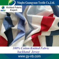 26s 100% cotton colored-strips fabric soft knitted fabric