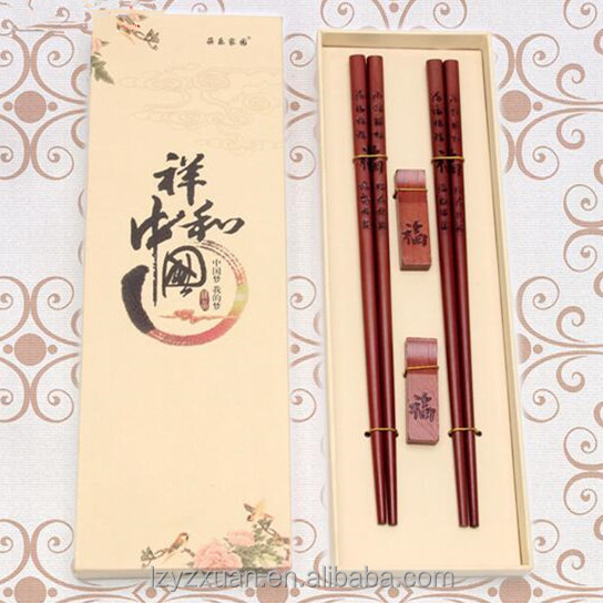 Good quality Chinese style antique hand carved wooden chopsticks for wholesale