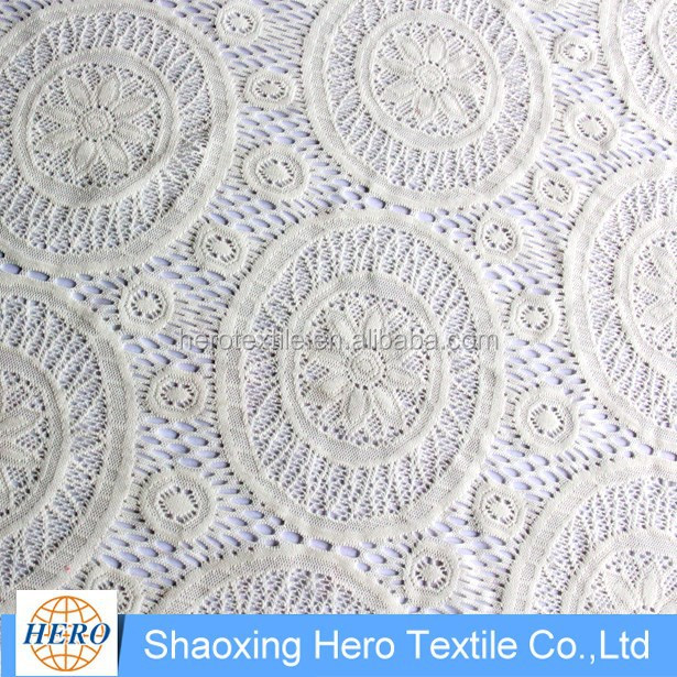 most popular pretty design 100%polyester korean lace fabric