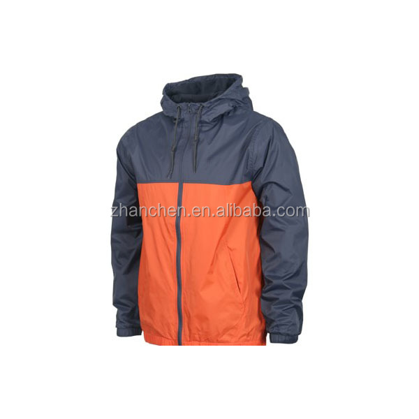New Custom Windbreaker Jackets Men with Front Hand Pocket