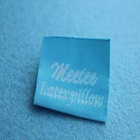 Woven Garment labels and tags Brand name 100% polyester Fabric Labels for clothing
