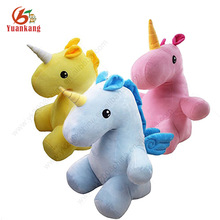 Make Design Your Own Soft Animal Doll Custom Stuffed Embroidery Unicorn Plush Toy From China Factory Import