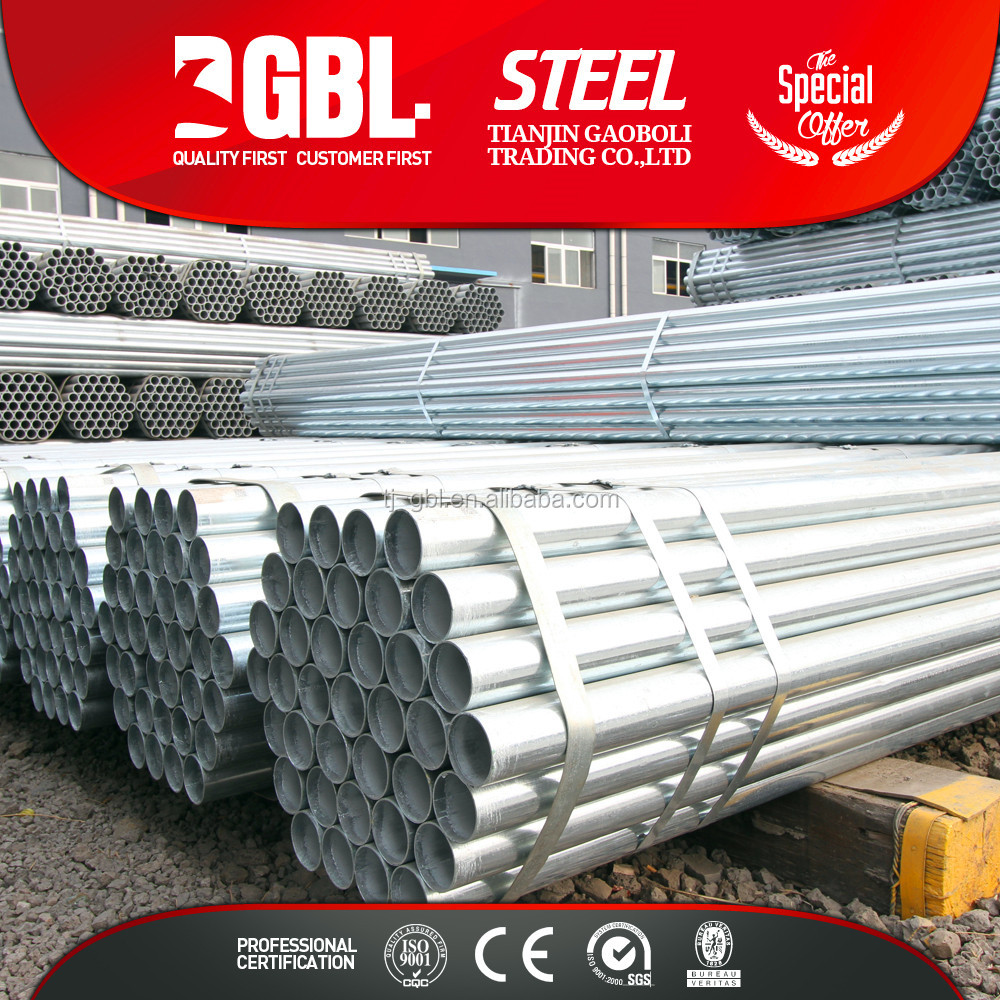 carbon steel pipe price list Pre-Galvanized round steel pipe tube for different usages welding machine price list