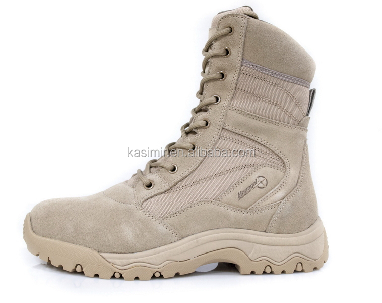 Mens Leather Waterproof Army Boots/Combat Boots/Military Boots