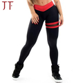 Elegant yoga wear Plain black yoga pants Striped yoga leggings