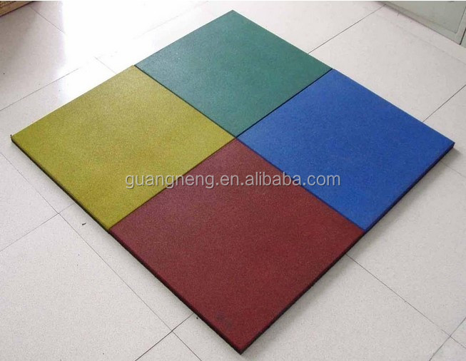 Non-toxic and 100% recycled rubber grnaules floor tile,Gymnastic Flooring, Sound insulation rubber tiles