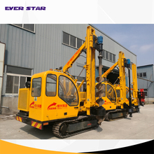Solar system crawler post ramming piling machine