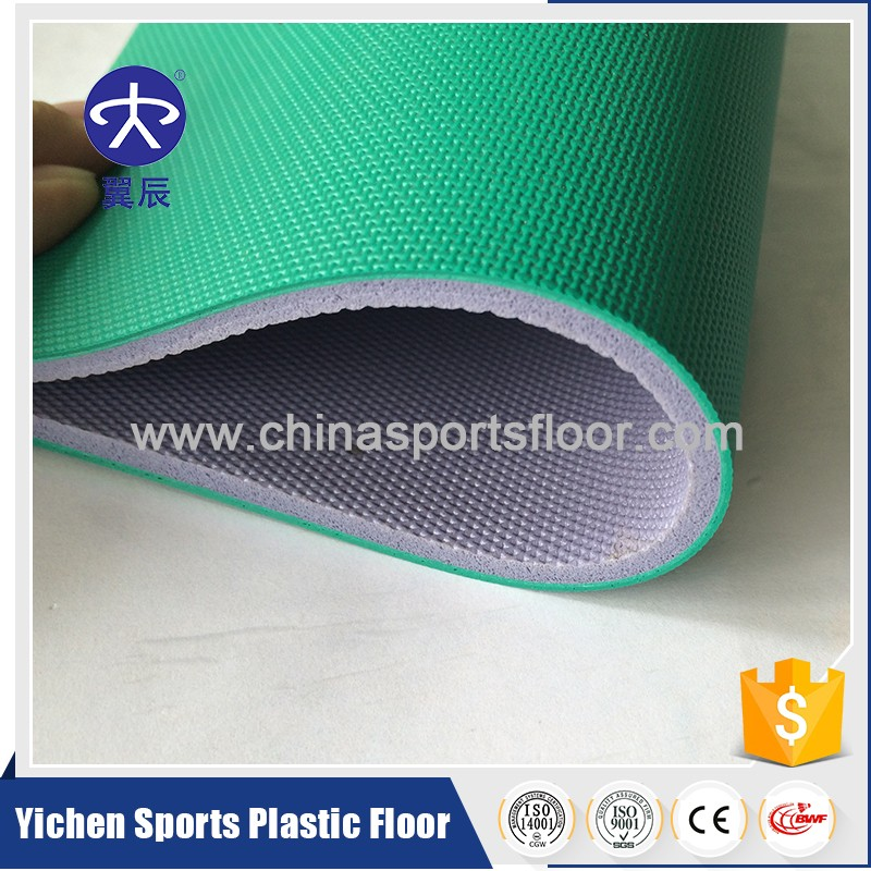Direct Sales Vinyl badminton floor mats portable badminton court mat floor