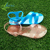 2017 new design summer fashion woman plastic jelly shoes flat sandals