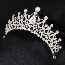 Factory Wholesale High Quality Princess Rhinestone Wedding Tiara Hair Crown