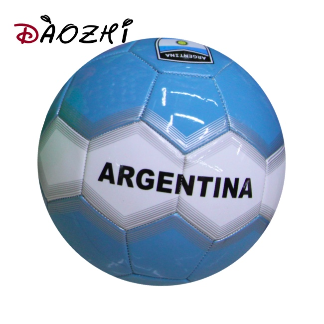 Argentina international flags wih logo football ball cheap soccer promotional