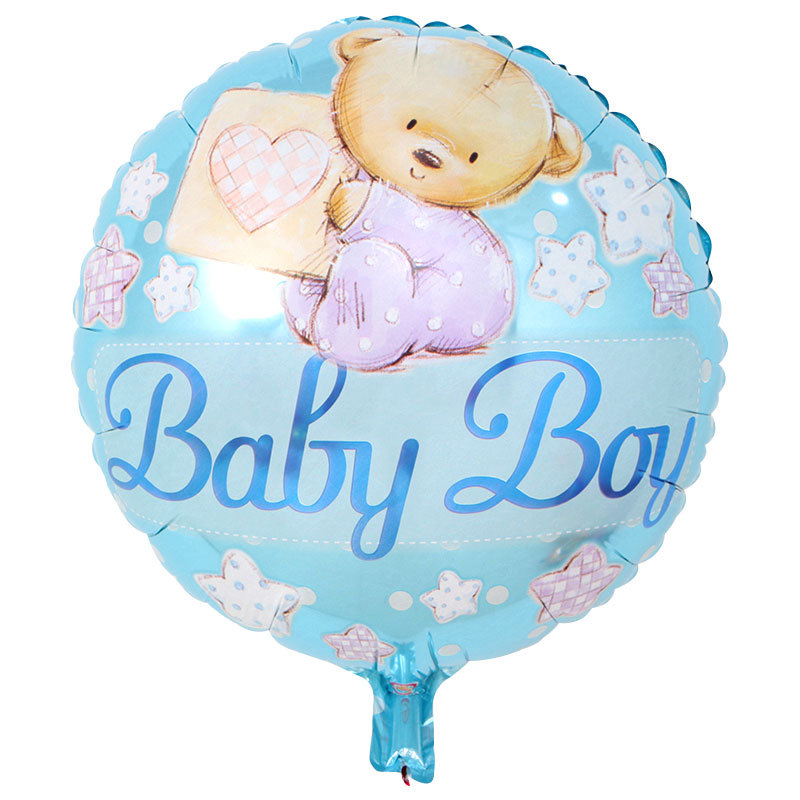 New 18inch Baby Boy Girl First Birthday 1th Printing  Foil  Shower Gender Reveal Decoration Supplies Balloon Globos wholesale