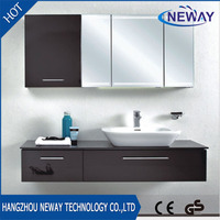 Modern pvc bath room wall cabinets with mirror cabinet