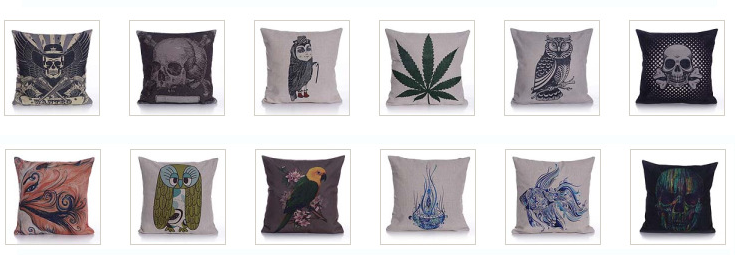 Home sofa chair decorative sublimation printed custom design cushion cover