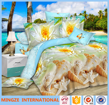 king size bed sheet 3D printing 100% polyester bedding set /bed sheet/duvet cover/pillow