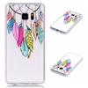 Printed TPU gel cover case for Samsung Galaxy Note 7 Flower butterfly design